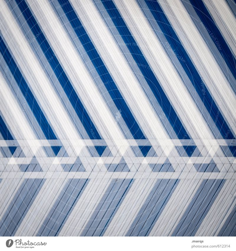 obliquely Elegant Style Design Wall (barrier) Wall (building) Wood Stripe Exceptional Hip & trendy Uniqueness Modern Blue White Colour Creativity Crazy