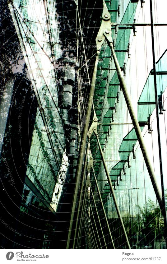 Window Facade Modern Mirror Divide Rod Grating Scaffold Greenhouse