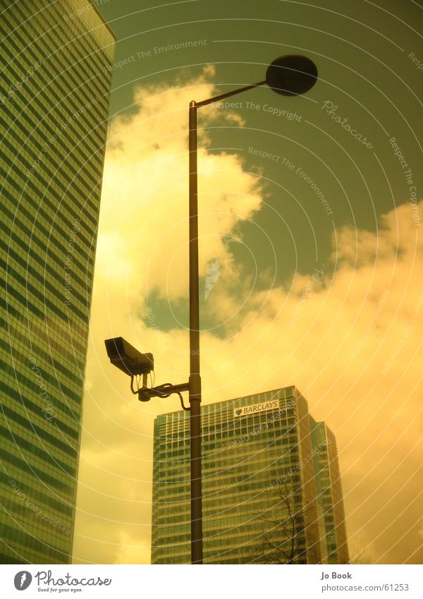Sky Clouds Work and employment High-rise Store premises Surveillance Filter Canary Wharf