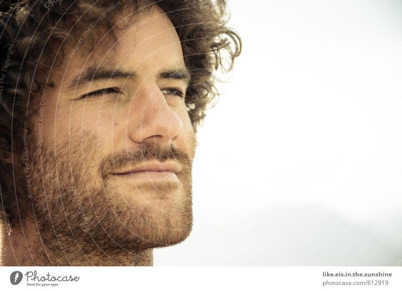 Youth (Young adults) Man Beautiful Summer Relaxation Young man Face Adults Hair and hairstyles Head Friendship Masculine Contentment Smiling Hope Facial hair