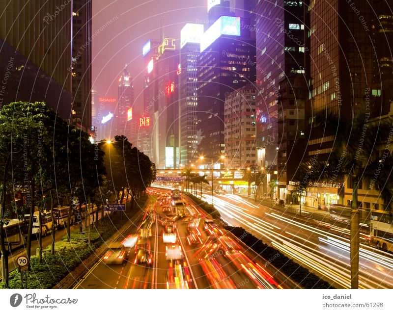 City Colour Building Bright Wind Fog High-rise Transport Speed Living or residing Driving Asphalt Asia Highway China Traffic infrastructure