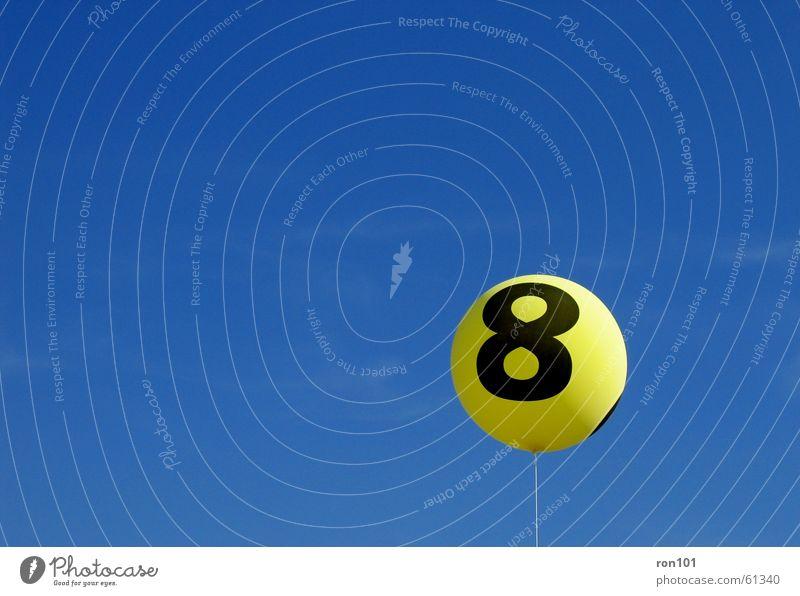 Sky Blue Yellow Balloon String Gas 8