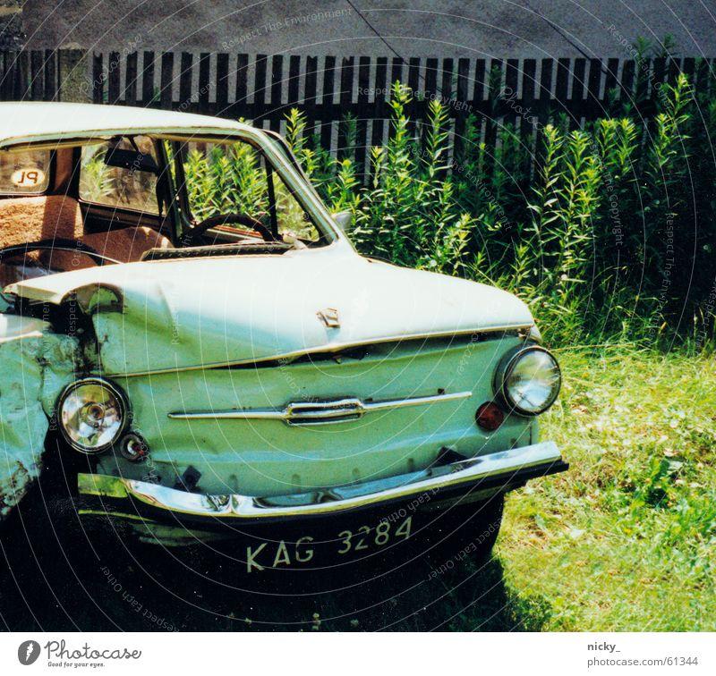 Meadow Wall (building) Garden Car Lawn Broken Clarity Turquoise Scrap metal
