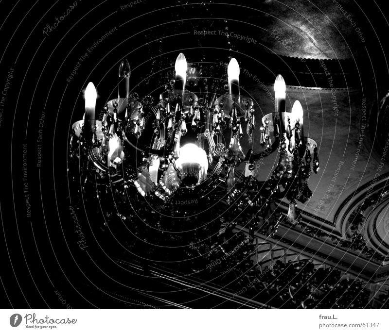 Old Lamp Dark Broken Things Creepy Luxury Electric bulb Crystal structure Eerie Chandelier Ceiling fresco