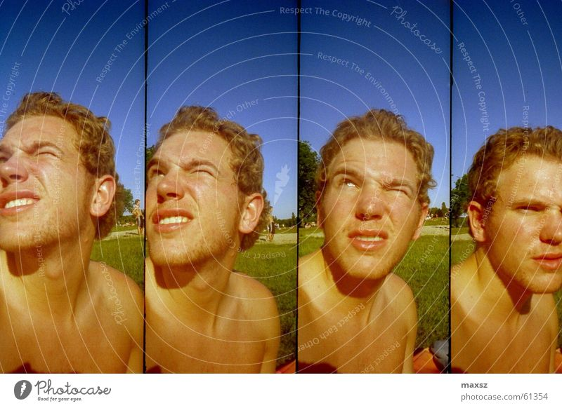 Sky Sun Blue Summer Face Lomography Stupid Self portrait Lake Baggersee Swimming lake Tankumsee Lake Gifhorn district