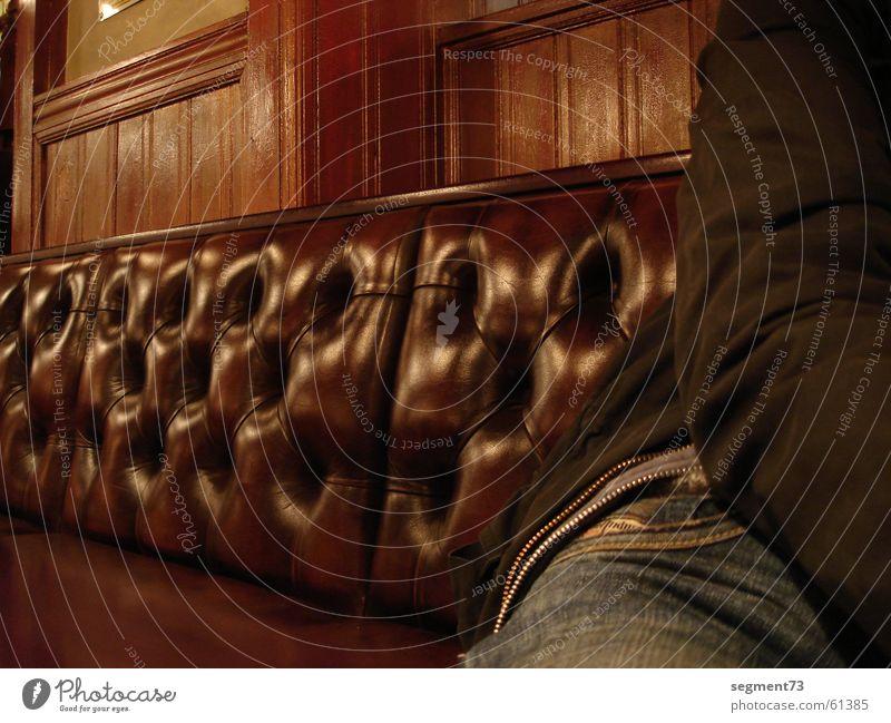leather sofa Leather Beautiful Design Brown Pants Café Bar Gastronomy Copenhagen Light Sit Jeans Roadhouse Denmark