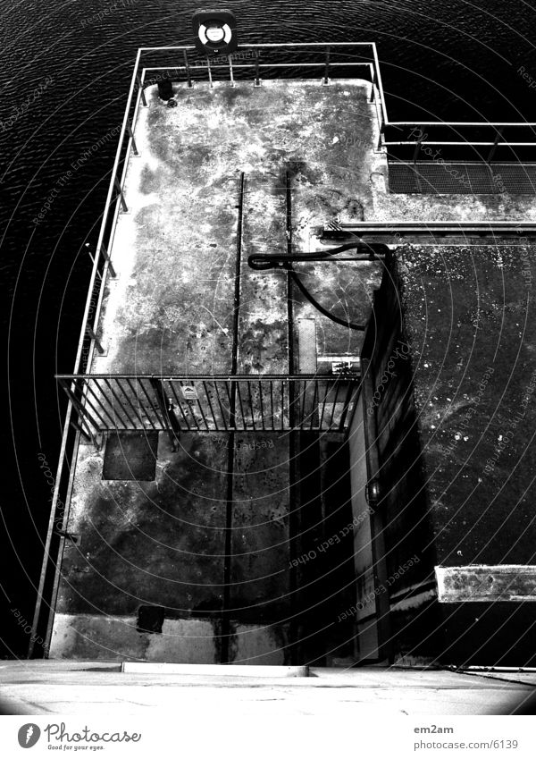 platform Rescue Black White Abstract Bird Bridge Perspective
