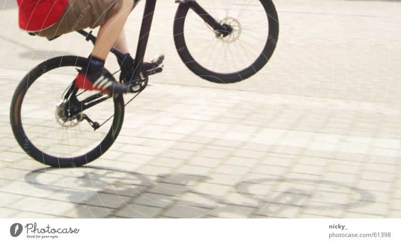 keep rollin' rollin' rollin' rollin' Black Red Footwear Pants Man Boast Bicycle manual Street Shadow Legs Tall Boy (child) I can also typical youth Sun