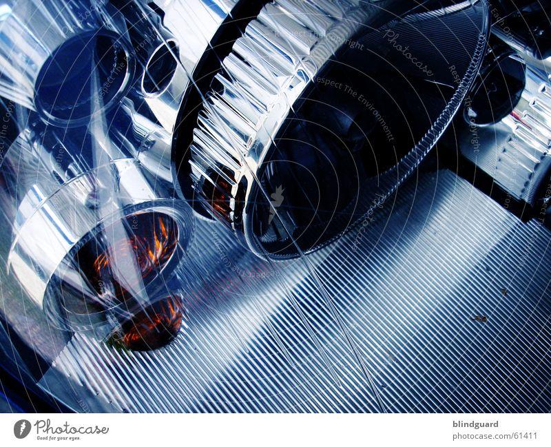 Blue Car Glass Motor vehicle Technology Silver Floodlight UFO Chrome Spoon bait Reflector