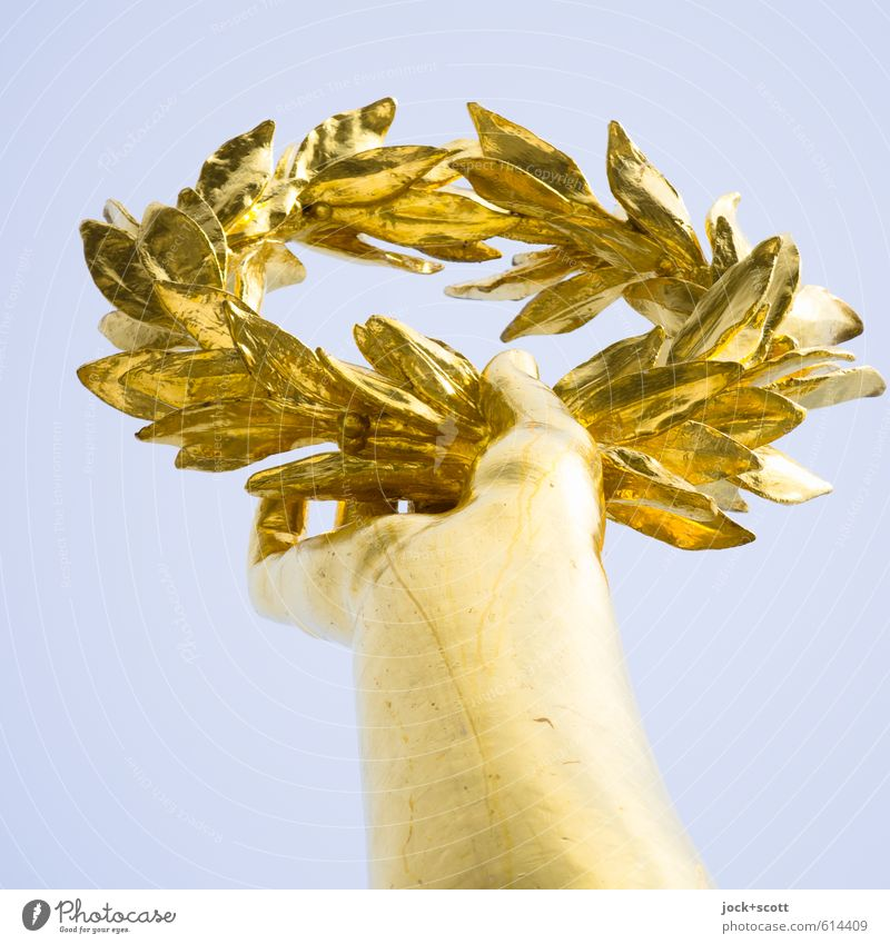 Sky Hand Feminine Happy Above Elegant Gold Success Sign Historic Past To hold on Capital city Tourist Attraction Luxury