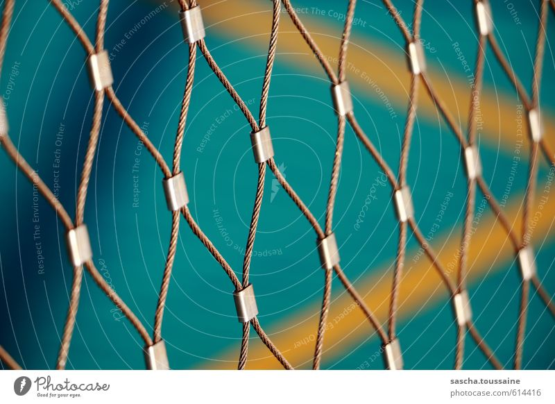 cohesion Ball sports Basketball Sporting grounds Metal Steel Blue Yellow Green Silver Energy Safety Sports Power Mesh grid Grating Net Wire fence Wire mesh