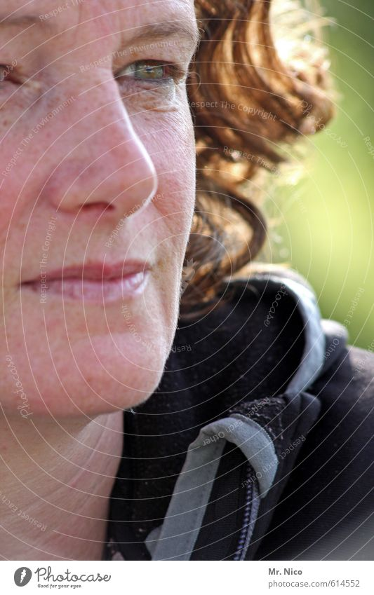 meet yourself Lifestyle Feminine Woman Adults Face Eyes Nose Mouth Lips 1 Human being Curl Serene Detail of face Freckles Observe Natural Happy Contentment