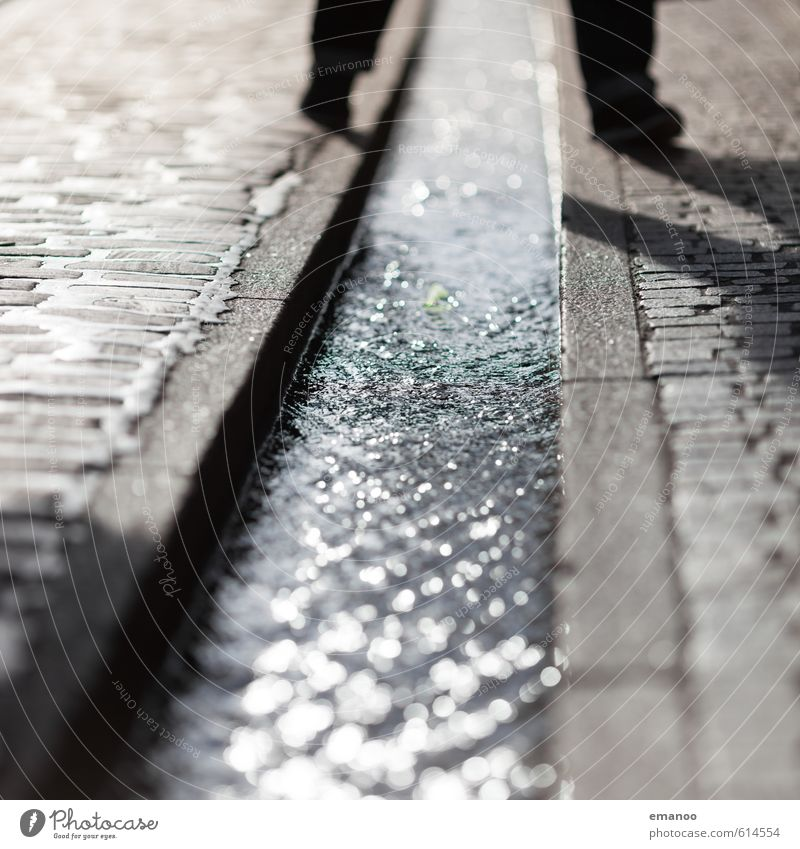 Human being Vacation & Travel Man City Water Adults Life Street Gray Feet Walking Stand Places Wet Downtown Landmark