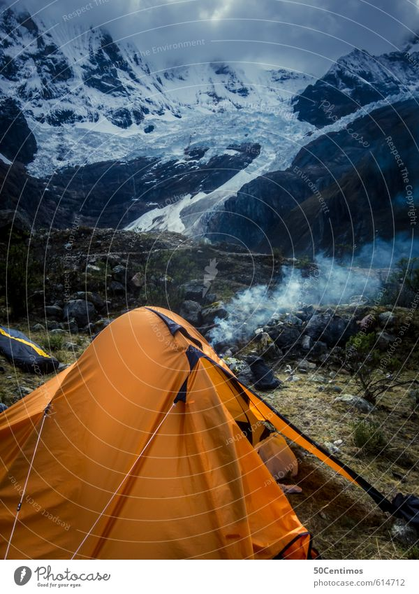 Camping in the on the edge of the glacier Leisure and hobbies Vacation & Travel Tourism Trip Adventure Far-off places Freedom Sightseeing Expedition Winter Snow