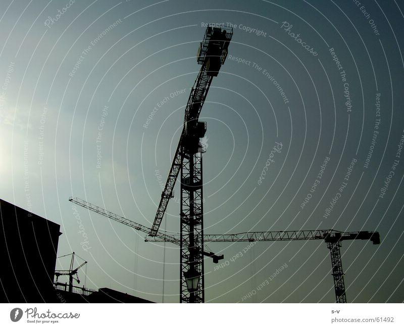 Pariser Platz Sky cranes blue