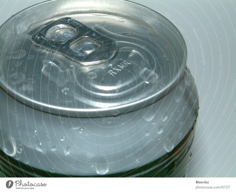 Drops of water Fresh Beer Alcoholic drinks Tin