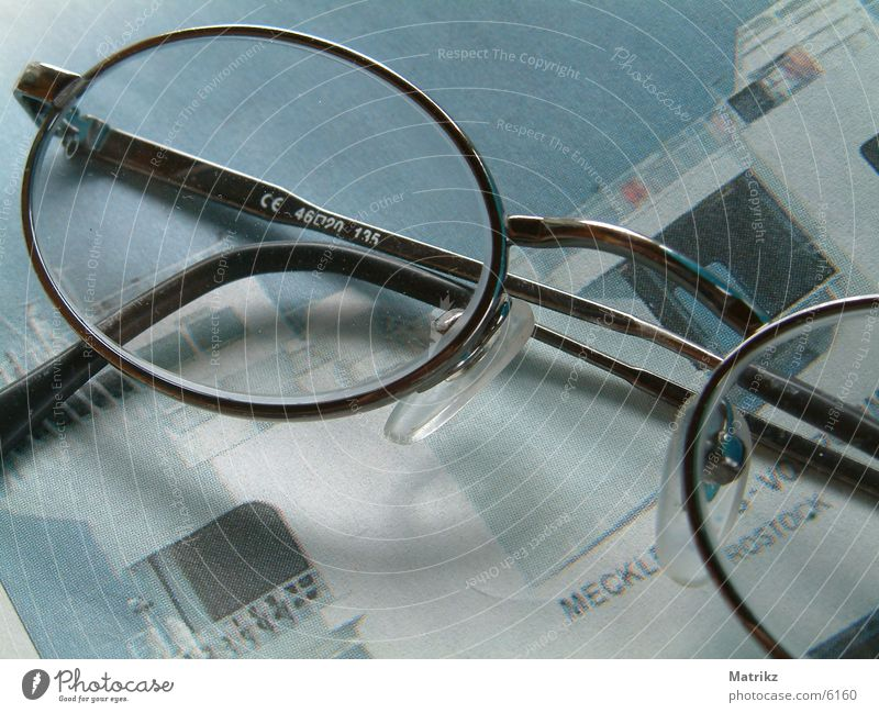 Business Eyeglasses Newspaper Lens