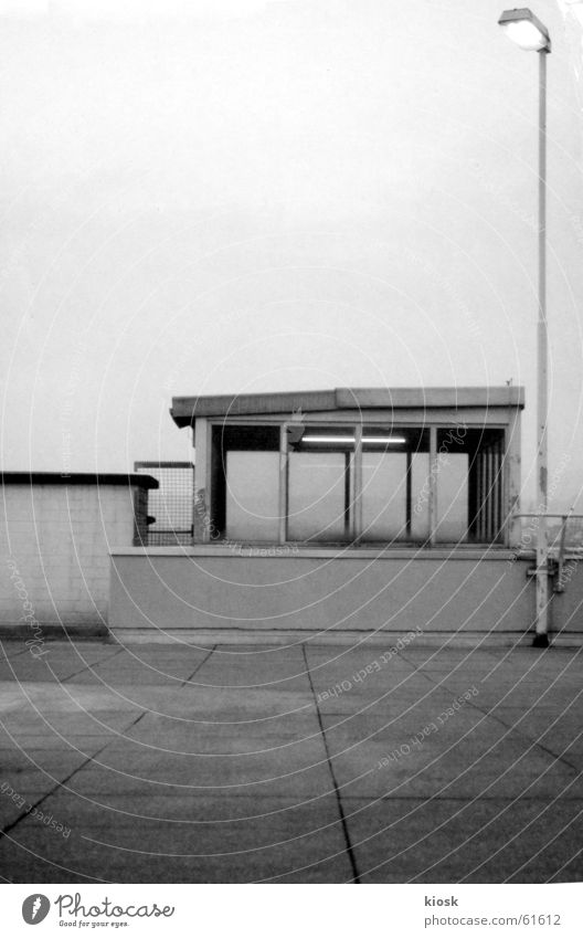 parking level no.1 Parking garage House (Residential Structure) Lantern Wall (barrier) Wall (building) Concrete Black & white photo polapan