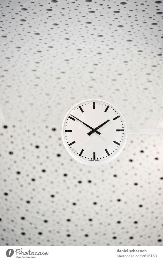 White Black Time Bright School Clock
