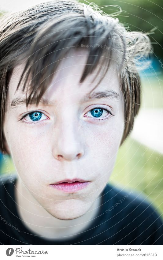 Human being Child Nature Youth (Young adults) Blue Beautiful Moody Masculine 13 - 18 years Simple Uniqueness Watchfulness Willpower Attentive Resolve