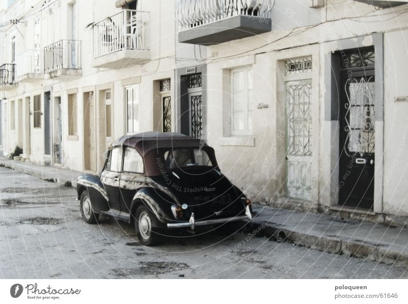 on the road again Driving Malta Old-school Black Vintage car Balcony Car Street Door