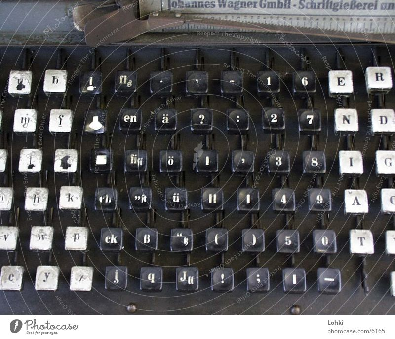 Industry Letters (alphabet) Write Keyboard Touch Machinery Typewriter