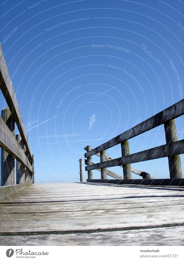 Sky Old Blue Water Ocean Life Architecture Lanes & trails Death Watercraft Horizon Empty Bridge Hope Grief Target