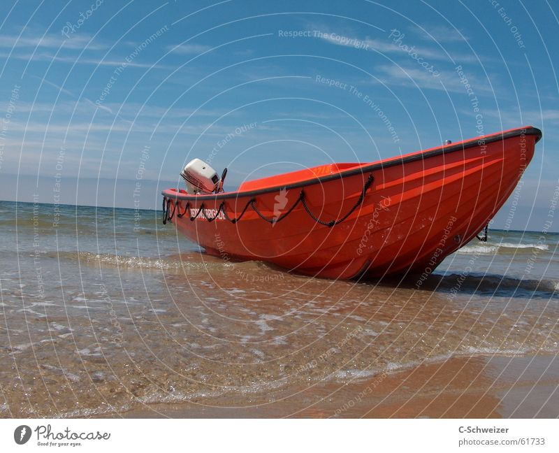 aground Watercraft Red Beach Ocean Stranded sky horizon