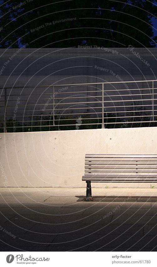 Concrete Bench Handrail Minimalistic