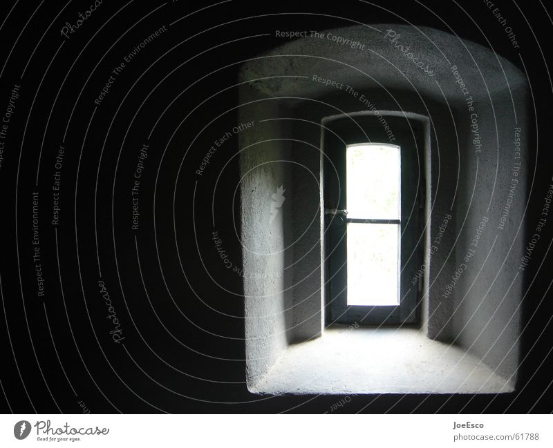 White Black Dark Style Window Sadness Door Perspective Future Vantage point Tower Forwards Gate Entrance Hollow Escape