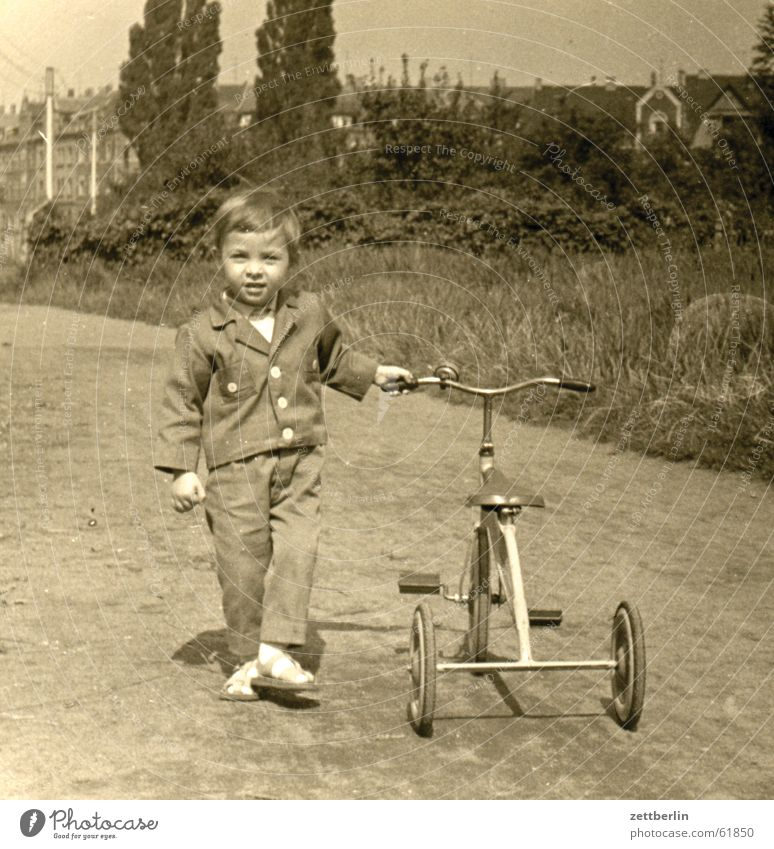 Way back Child Tricycle Small Town Future Hope Sixties Toddler Boy (child) loberwiese