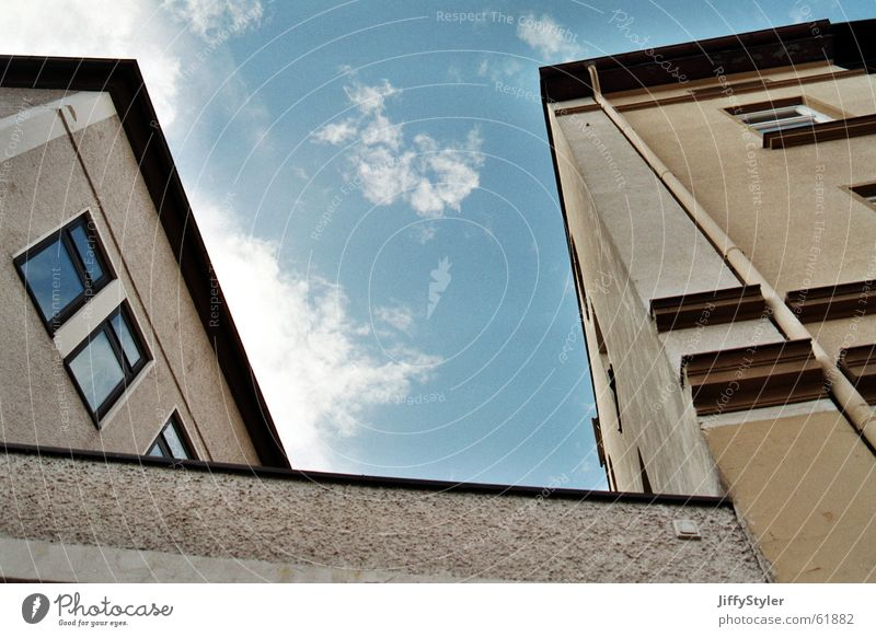 Sky City Clouds House (Residential Structure) Window Wall (barrier) Building Line Work and employment Perspective Roof