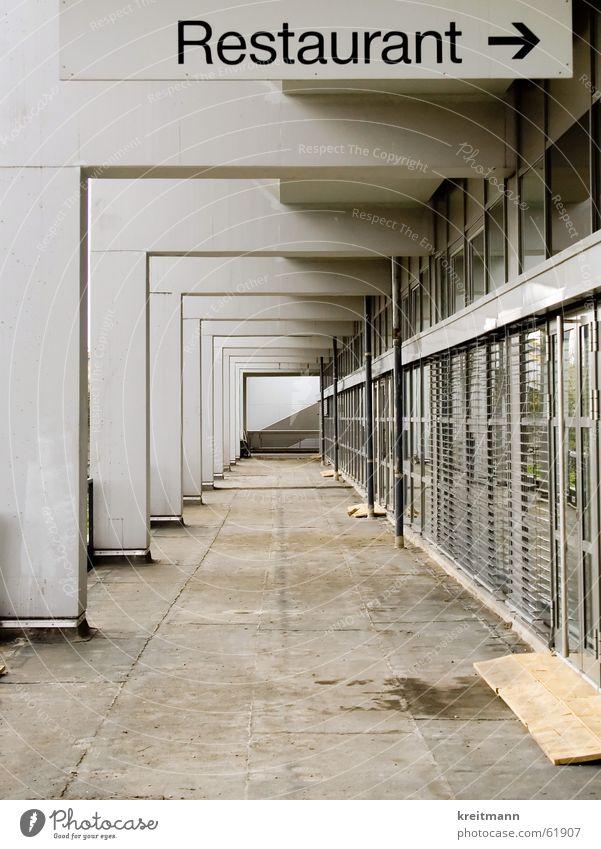 Concrete Perspective Restaurant Entrance Dismantling Monochrome Bochum