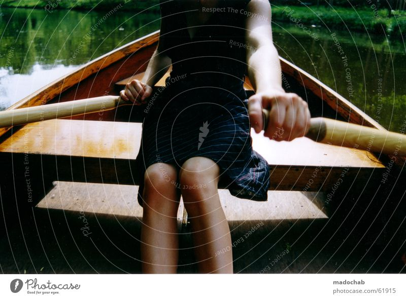 RUDERN | romance romance romantic woman summer love boat water Rowing Rowboat Watercraft Slowly Backwards Woman Summer Hand Beautiful Relaxation