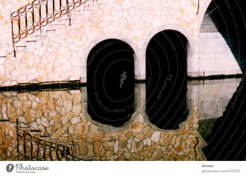Water Coast Stairs Bridge River Geometry Arch Sewer Corfu