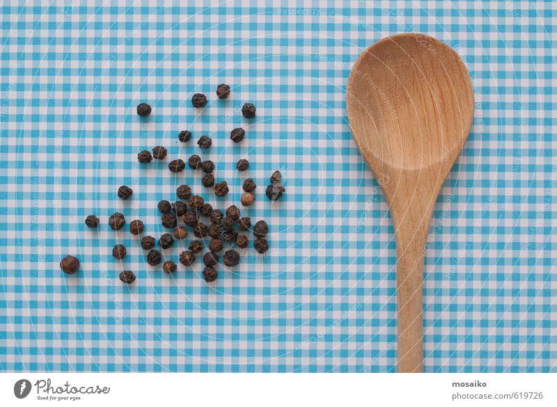 Blue Black Brown India Spoon