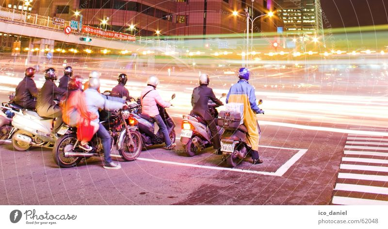Human being City Red Street Dark Building Group Bright Wait Transport Speed Bridge Stand Driving Many Stop