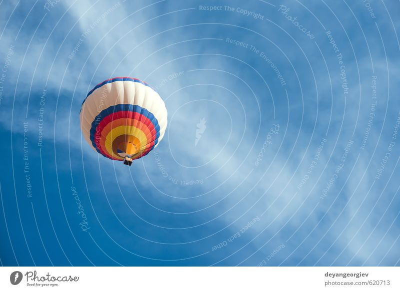 Multicolored Balloon in the blue sky Joy Relaxation Leisure and hobbies Vacation & Travel Tourism Trip Adventure Freedom Summer Mountain Sports Nature Landscape