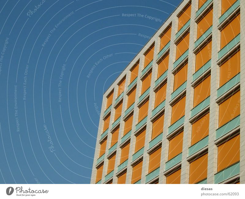 Sky Loneliness Window Building Line High-rise Facade Geometry Anonymous Symmetry Rectangle Equal Venetian blinds