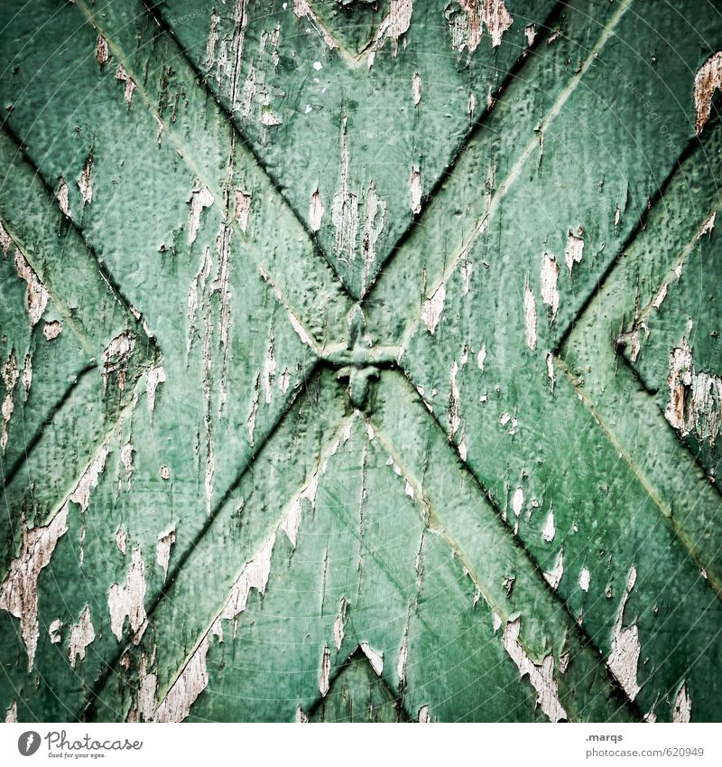 X2 Wall (barrier) Wall (building) Wood Old Dark Simple Broken Green Colour Decline Transience Time Background picture Scratch mark Colour photo Subdued colour