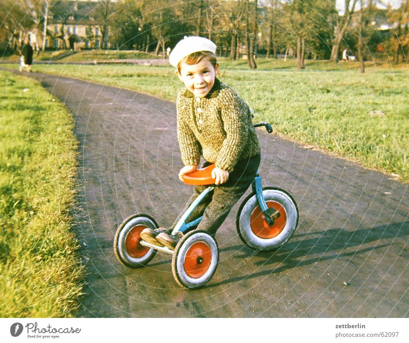 Child Summer Spring Autumn Boy (child) Park Infancy Town Sunday Tricycle