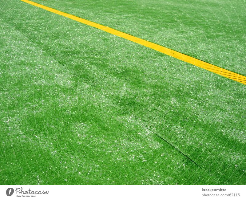 Green Yellow Line Glittering Floor covering Placed Artificial lawn