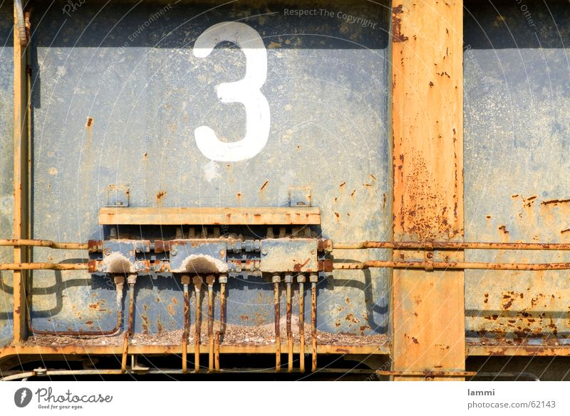 Distributor three 3 Digits and numbers Steel Gray Excavator Decline Grief Past Parking area Rust Transmission lines Mining Detail Delivery person Old Sadness