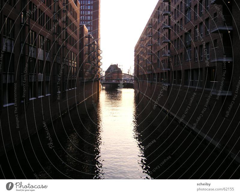 Hamburg Speicherstadt Old warehouse district Water reflection Harbour Harbor city
