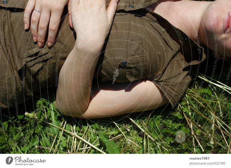 Summer Calm Relaxation Meadow Cold Freedom Think Dream Field Beginning Lawn To enjoy Dandelion Stress Meditation Cozy