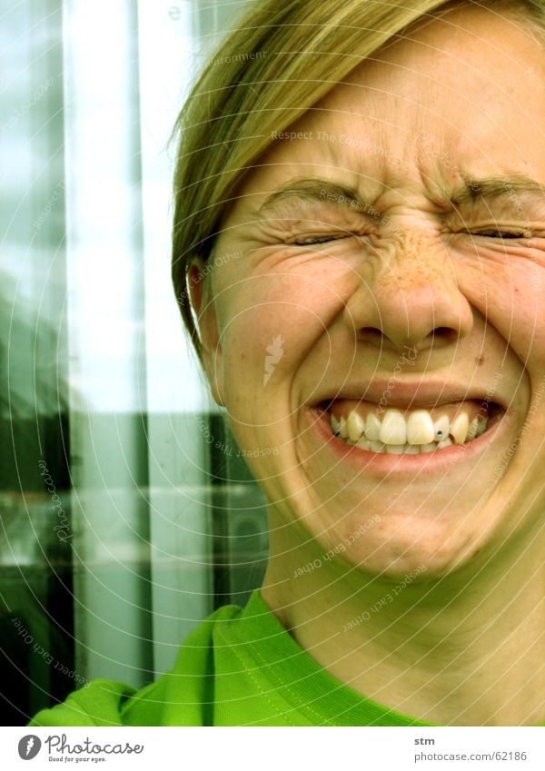 Woman Green Joy Eyes Emotions Mouth Anger Wrinkles Facial expression