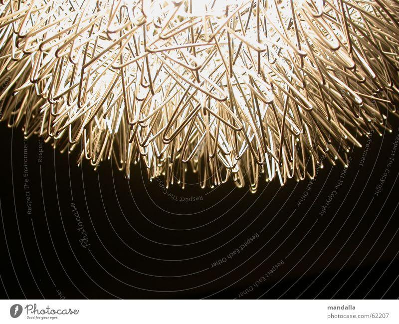 White Black Lamp Dark Above Round Connection Wire Half