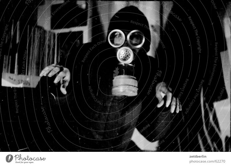 Protection Mask Gas Appearance Joke Monster Dress up Attack Scare Odds and ends Respirator mask Face mask Poison gas