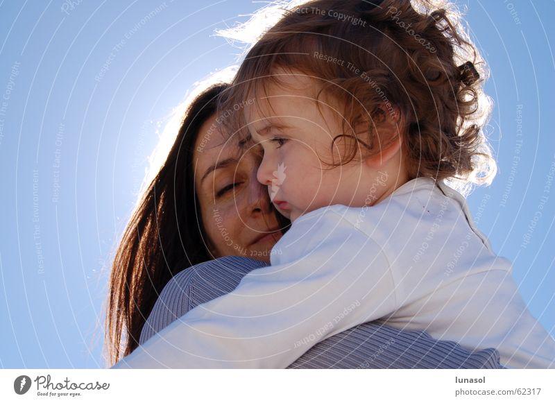 maternal hug Love Family & Relations Human being mother more toodler motherhood sunshine child little girl cuddle