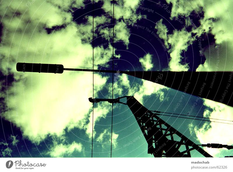 ENERGY | clouds stream lantern sky graphics style tracks Clouds Railroad system Parallel Worm's-eye view Far-off places Dramatic Threat Bad weather
